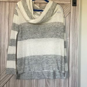 Very thin cowl neck sweater!